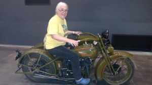 Loretta on her future Harley